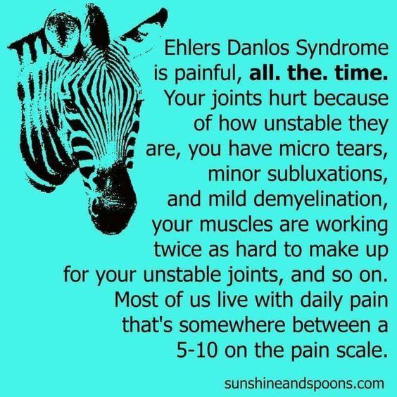 #EDS #SED #EhlersDanlosSyndrome #zèbre #spoonie #handicap