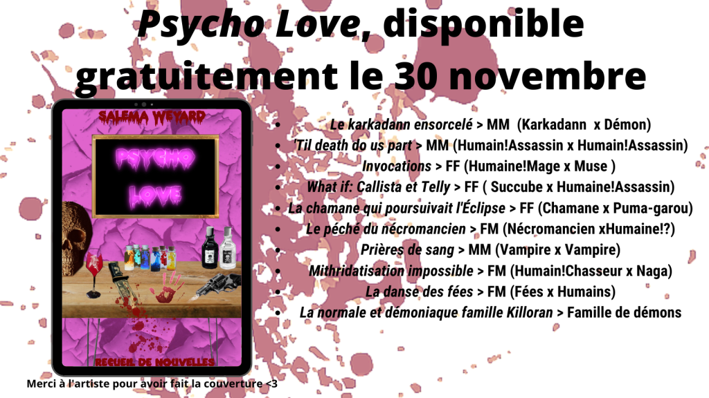 #darkromance #fantasy #ebook #autoedition #gratuit #recueil